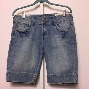 Jade Stretch Bermuda Shorts
